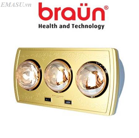 Đèn sưởi nhà tắm Heizen 3 bóng HE3BR - Công nghệ Đức bảo hành 10 năm